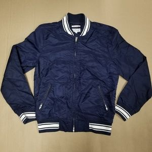 Gant Rugger Navy Nylon Varsity Jacket Men's Sz XS